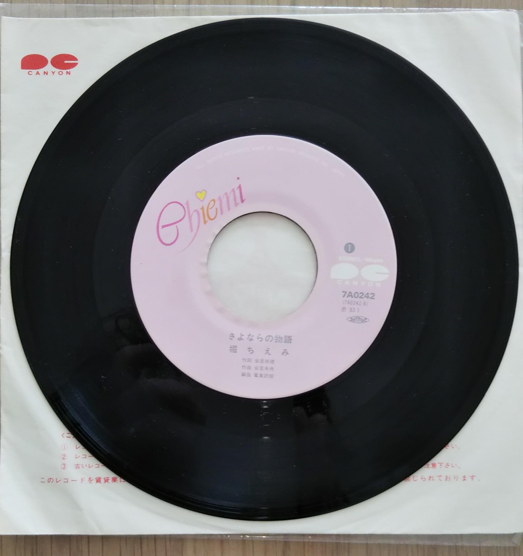 小学生だった私が買った堀ちえみさんのレコード